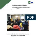 Proyecto de Capacit Docente Docentes Unsaac Nov 2016