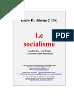 DURKHEIM, Émile. Le Socialisme