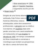 Pulp Fiction – Wikipédia, A Enciclopédia Livre
