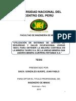 Tesis Ing. de Minas Gonzáles Quispe, Juan Pablo