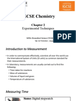 IGCSE Chemistry Chapter 2- Experimental Techniques