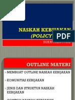 Naskah Kebijakan (Policy Paper)