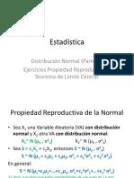 Distribución Normal (II) - Ejercicios de Propiedad Reproductiva y TLC