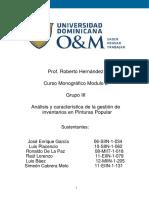 Analisis y Caracteristica de La Gestion de Inventario Pinturas Popular