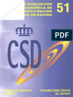 Análisis y evaluación económica del deporte en España