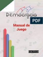 Instrucciones juego de mesa  D€mocracia