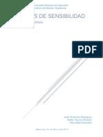 Análisis de Sensibilidad - Ingeniería Económica