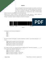 Teste Global de FQ com critérios