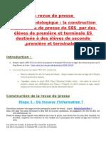 méthodologie revue de presse 2010-2011