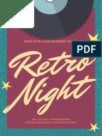 Retro Prom Poster
