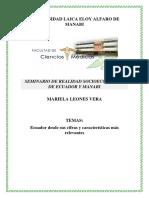 Ecuador Cifras Relevantes Mariela Leones Vera