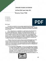 Rueda v Holland - Letter from the Arbitrator