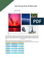 Cara Membuat Ukuran Foto Di Microsoft Word