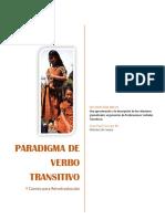 Paradigma de Verbo Transitivo