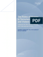 The Roles of Women in Terrorism, Conflict, and Violent Extremism