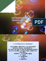 Estrategias de Producción de Textos