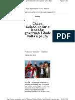 Chapa Lula Alencar