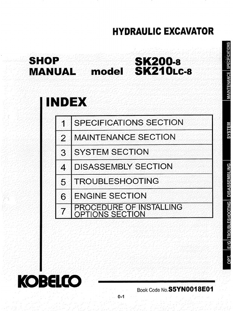 Kobelco Sk210 Wiring Diagram Schematic Diagrams Loader Sk200 8 Shop Manual Pdf