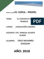 Contrato de Trabajo Joaquin Cruz