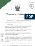 R.M. N° 240-2009-MINSA - TARIFARIO DEL SIS