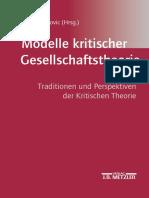 Demirovic, 2003 Modelle Kritischer Gesellschaftstheorie