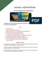 S.I. Soluciones Informaticas. Portafolio Servicios