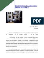 El PAPEL DEL DOCENTE EN LA PLANIFICACIÓN EDUCATIVA