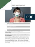 Ómo Usar La Mascarilla Para Protegerse de La Contaminación