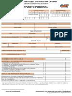 Formulario de Declaracion Jurada de Ingresos Impuesto Personal