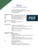 education resume 2017  eportfolio