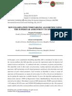 New Examination Timetabling Algorithm Using the Superstar Assignment Technique