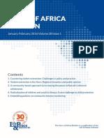 Horn of Africa Bulletin January-February 2016 Volume 28 Issue 1