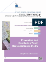 Preventing and countering youth radicalisation in the EU