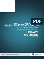 2017 Subaru Outback Eyesight Manual