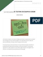 Estrategias de Testing en Equipos Scrum - Damian BuonamicoCamino Ágil