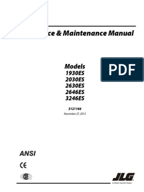 nacela jlg 3246 es service and maintenance pdf valve elevator Lull Wiring Diagram
