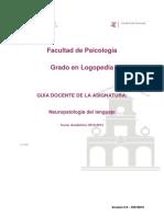 Neuropatología Del Lenguaje