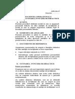 Procedura Operationala Privind Ocuparea Functiilor Didactice