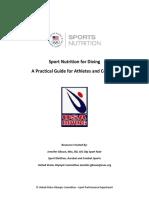 Sport Nutrition for Diving