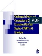 Challenges in Design and Construction of Deep Excavation for KVMRT in KL Limestone