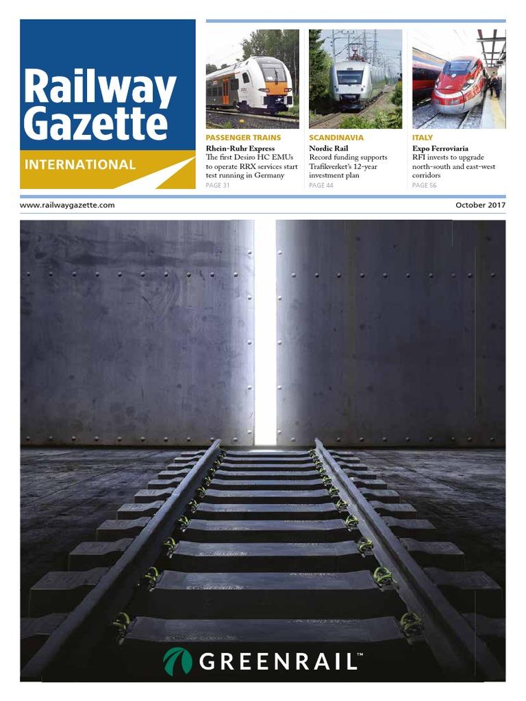 Railway Gazette October 2017 | Rail Transport | High Speed Rail