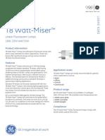 Linear Flourescent T8 WattMiser Lamps Data Sheet en Tcm181-12837