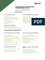 Selection of Bachelor Courses
