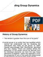 Understanding Group Dynamics