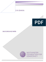 Ghana Cost of Politics - Westminster Foundation for Democracy Report