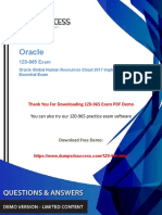 1Z0-965 Oracle Human Capital Management Exam Dumps - Success Secret