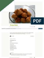 Cookpad Com Id Resep 4272171 Tempe Bulat