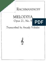 Rachmaninoff-Volodos Cello Sonata