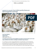 A Game of Chicken_ How India's Poultry Farms Are Spawning Global Superbugs - The Hindu
