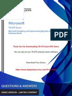 70-475 Microsoft Certified Professional Exam Dumps